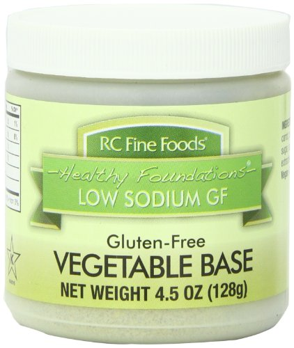 RC Fine Foods Healthy Foundations Low Sodium Gluten-Free Vegetable Base, 4.5 Ounce