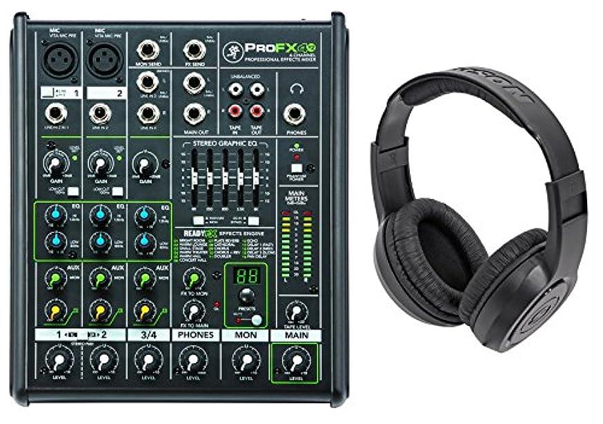 New Mackie PROFX4v2 Pro 4-Ch Compact Mixer w Effects PROFX4 V2+Samson Headphones