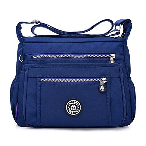 Outreo Schultertasche Damen Umhängetasche Mode Kuriertasche Lässige Taschen Reisetasche Leicht Büchertasche Strandtasche Sporttasche für Design Messenger Bag