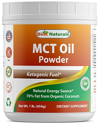Best Naturals MCT Oil Powder 1 Pound - Ketosis Supplement (Medium Chain Triglycerides - Coconuts) for Ketone Energy - Easy to Digest - for Coffee, Smoothies & Hot Beverages!