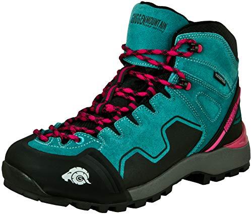 GUGGEN Mountain PM021 Damen Trekking-& Wanderstiefel Wanderschuhe Trekkingschuhe Outdoorschuhe wasserdicht mit Membran und Wildleder Farbe Blau EU 41