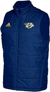 adidas Nashville Predators NHL Men's Center Ice Blue Full-Zip Authentic Pro Vest