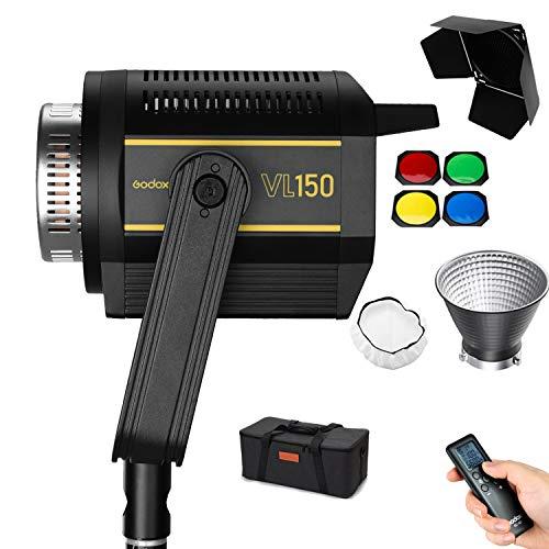 Godox VL150 LEDビデオライト 150W LED撮影灯 5600K CRI96 TLCI95 0-100%調光可能 優れた放熱性 Bowensマ...