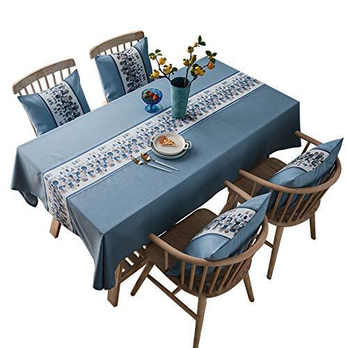 DJUX Mantel Jacquard Impermeable Color sólido algodón y Lino Color Liso imitación algodón y Lino Mantel 60 * 60 cm