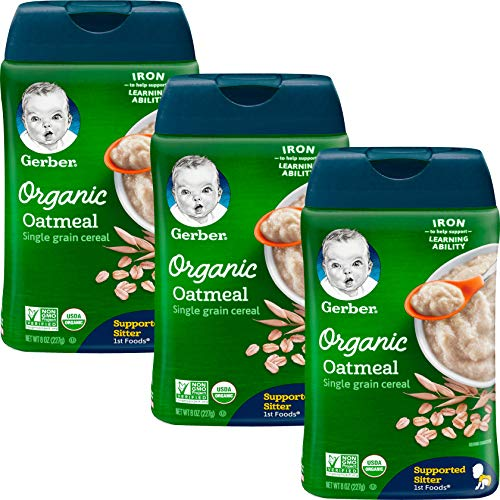 Gerber Baby Cereal, 1st Foods, Organic Oatmeal | Amazon