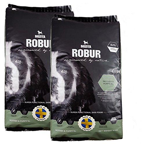 2 x 14 kg Bozita Robur Mother & Puppy XL pour chien Doublure pour chiots et jeunes chiens