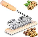 Fzd Sweet Nutcracker Pecan Nut Cracker, For Nuts Walnuts Hazelnuts Almonds Brazil Nuts Heavy Duty Stainless Steel Nutcracker Machine With Wooden Handle Base, Nut Picker And Chestnut Sheller