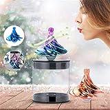 Dessus de filage Exquis, Magic Wind Gyro Decompression Toy Creative Soulagement du Stress Noël Cadeau de Noël pour Enfants et...
