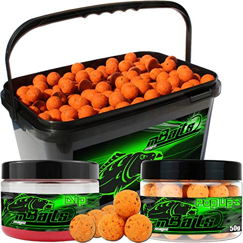 Angel-Berger Session Set Boilies Pop Ups Dip (Tutti Frutti, 20mm)