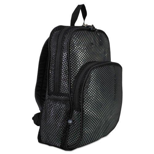 Mesh Backpack, 12x 171/2x 51/2, nero, venduto come 1ogni