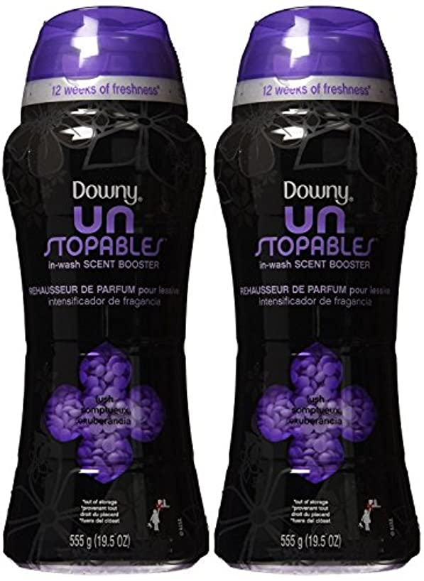 Downy Unstoppable Lush Scent In-Wash Scent Booster 19.5 Oz (Pack of 2)