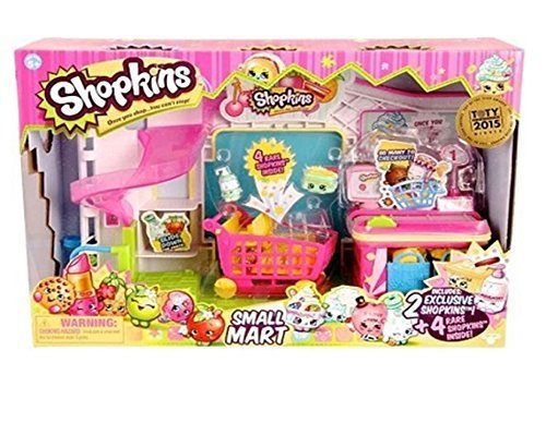 Shopkins Small Mart Supermarket Exclusive 6 Figure playset