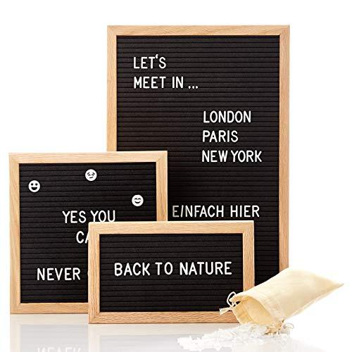 Skojig Buchstabentafel mit 340 Buchstaben in 25x15 25x25 oder 30x45 je nach Auswahl - Letterboard für Sprüche Menüs Nachrichten - Rillentafel Buchstabenbrett Pinnwand