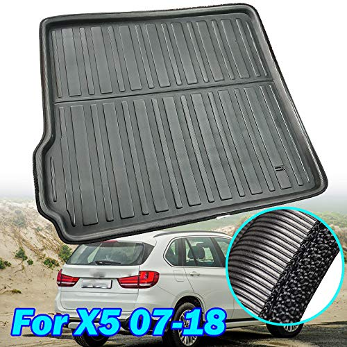 For X5 / M E70 F15 2007 2008 2009 2010 2011 2012 2013 2014 2015 2016 2017 2018 Tailored Boot Liner Cargo Tray Rear Trunk Liner Floor Mat Sheet Carpet Luggage Tray Waterproof