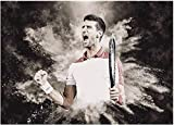 Hesuz Leinwand Bilder 50x70cm Kein Rahmen Tennisspieler