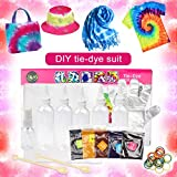 Suszian DIY Tie Dye Kit, Tie Dye Set DIY Dye Kits de Herramientas Herramientas de teñido de Tela para Ropa Mantel