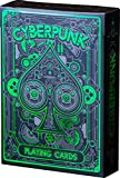 Cyberpunk Green Playing Cards, Deck of Cards, Premium Card Deck, Cool Poker Cards, Unique Bright Colors for Kids & Adults, Card Decks Games, Standard Size