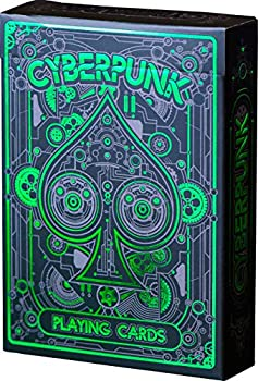 Cyberpunk Green Playing Cards Deck of Cards with Free Card Game eBook Premium Card Deck Cool Poker Cards Unique Bright Colors for Kids & Adults Card Decks Games Standard Size
