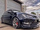 ABS/Carbon Fiber Kit de Divisor de Ala Alerón de Labios Parachoques Delantero para SEAT Ibiza MK5 Facelift FR/Cupra, Accesorios Modificados, Protección Contra Colisiones, Estabilidad