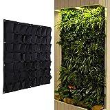 Demiawaking fioriera in sospensione di tipo verticale in poliestere da appendere alla parete, adatta per giardinaggio sale e ambienti interni con 4, 6, 12 o 18 tasche feltro Black 56 Pocket