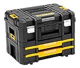 DEWALT - Caisse A Outil Transportable Coffret Kit Combo TSTAK Box Avec Modules II + IV - DWST1-70702 - Boite A Outils Vide Multi-Compartiments - Valise Outils Vide de 440 x 326 x 331 mm