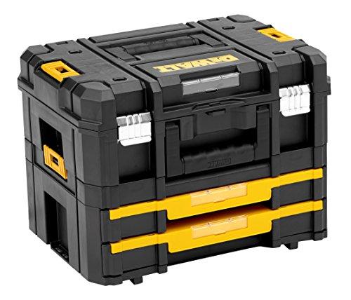 DeWalt TSTAK stabelbare Werkzeugbox (Transportbox Combo bestehend aus TSTAK II, TSTAK IV,...