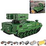 FYHCY Technik Panzer, 1689 Partes Technik Tank Technic Tanque de Control Remoto con 4 Motores y Juego de construcción de Control Remoto Compatible con tecnología Lego