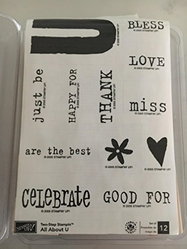 Stampin' Up ALL ABOUT U Set of 12 Decorative Rubber Stamps Retired 2005