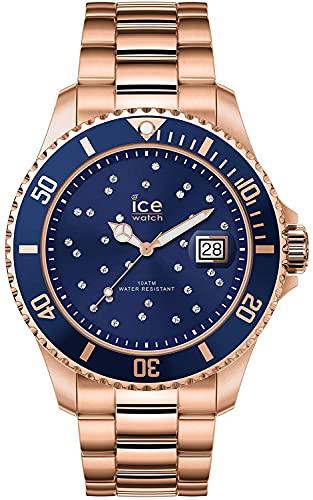 ICE-WATCH - ICE steel Blue cosmos rose-gold - Rose-Gold Damenuhr mit Metallarmband - 016774 (Medium)