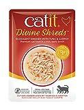 catit Divine Shreds, Premium Katzenfutter Topping mit Huehnerfleisch mit Thunfisch und Karotten, 1er...