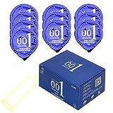 NOPNOG Condón ultrafino de 0,01 mm para hombre, de látex natural, paquete de 10 unidades por caja