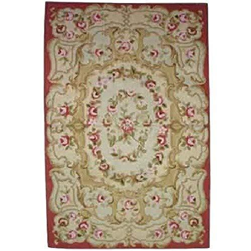 Better & Best Alfombra Petit Point con capullos de 92 x 152, Color roja, Lana, Fresa, 92x152x1 cm