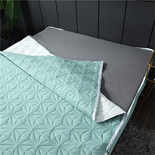 Six Sides All Inclusive Quilted Mattress Cover Soft Fiber Topper Pad Plain Solid Color Bed Mattress Protector Anti Dust Mite,G,180 * 200 * 30cm/71 * 79 * 11.8in
