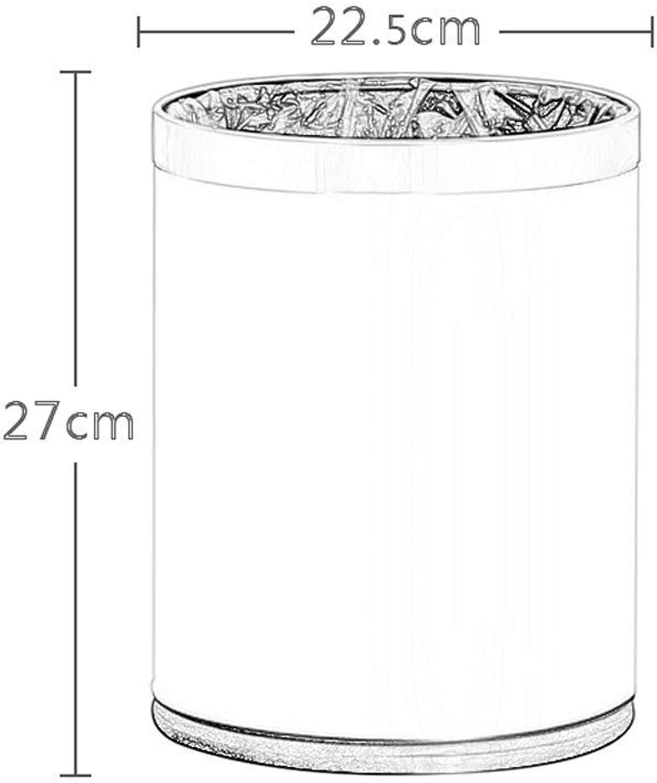 BAIF Cubo de Almacenamiento de Hotel de bao de la Sala de Estar del Dormitorio de la Sala de Estar de Doble Capa no Cubierta 22.5  27cm   24.5  30cm (Tamao  10L)