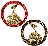 Marine Corps Iwo Jima USMC Challenge Coin with Actual Sands of Iwo Jima