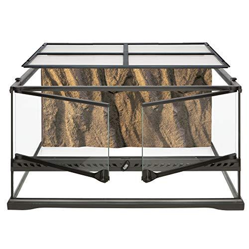 Exo Terra Terrario in Vetro 60X45X30 Cm Inclusa Parete Posteriore, Pavimento impermeabile, 60x45x30cm
