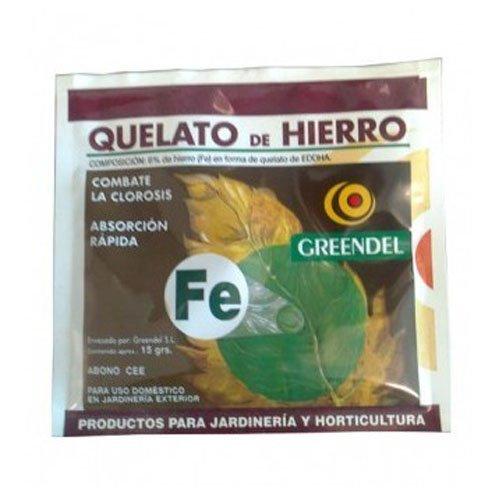 Abono Quelato de hierro Greendel para cultivo (15g)