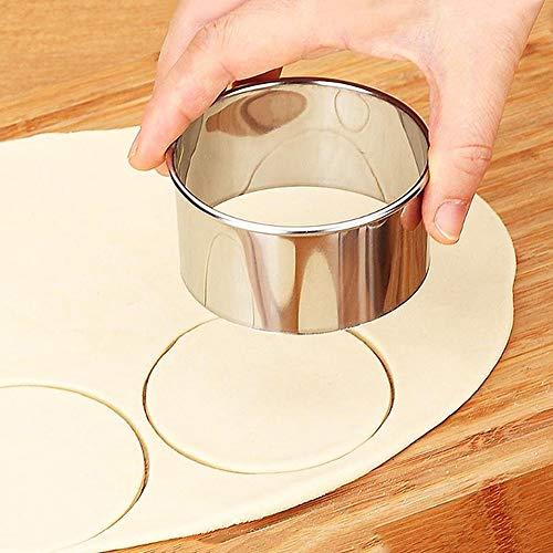 3 stks/set RVS Dumplings Wrappers Maker Mallen Jiaozi Cutter Ring - Ronde Deeg Cutter voor DIY maken Dumpling, Brood, Taart, Cookie - Stapelbare verschillende grootte Ring