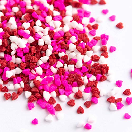 Sweets Indeed Sprinklefetti - Mini Heart Sprinkle Mix - Valentines Sprinkles - Gluten-Free Sprinkles for Baking - Cupcake and Cake Topper - 4.5 ounces