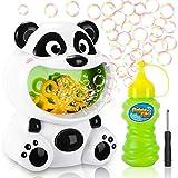 Gifort Macchina Bolle di Panda, Macchina per Bolle con Soluzione 118 ml, Macchina Automatica Portatile Bolle di Sapone Bambini Giochi da Esterno per Bagno Giardino Compleanno