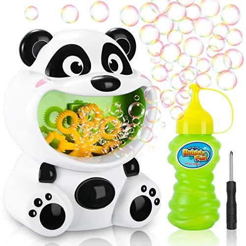 Gifort Machine à Bulles Enfants, Charmant Panda Souffleuse de Bulles Automatique Bubble Machine, Portble Poids Léger Été Intérieur Extérieur pour Enfants Cadeau Bain Bébé Fête d'anniversaire