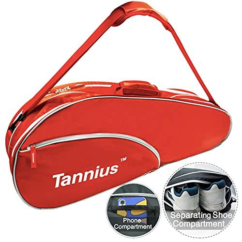 Tannius 3 Racket Tennis Bag (Red)
