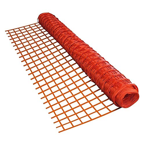 Garden Poultry Netting, Plastic Safety Fence, instead of Metal Wire Lightweight Tear Resistance with Cable Tie for Building, Construction, Flower Bed ( Color : Red , Size : 1.2x6m )