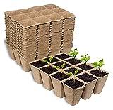 ASY 20 Macetas para Plántulas, 12 Rejillas, 4 Cm, Macetas Cuadradas para Plántulas, Macetas De Trasplante De Fibra Biodegradable para Plantas, Verduras, Frutas (16 X 12 Cm)