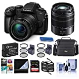 Panasonic Lumix DMC-G85 Mirrorless Camera with 12-60mm f/3.5-5.6 Lumix G Power OIS Lens, Lumix G Vario 45-150mm f/4.0-5.6 ASPH Lens Black - Bundle with Camera Bag, 32GB SDHC Card, Spare Battery. More