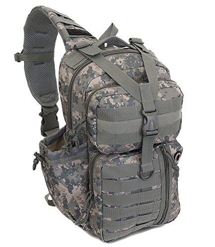 "NPUSA 18"" Tactical Messenger Sling Bag Outdoor Camping Hiking Travel Backpack TL318 DM Digital Camouflage"