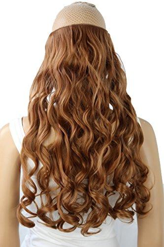PRETTYSHOP 70cm oder 55cm Clip In Extensions Halbperücke Haarverlängerung Haarverdichtung Haarteil hitzebeständig wie Echthaar div. Farben (kupferbraun #30 C66-1)