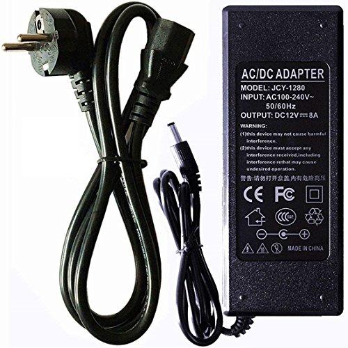 RPS 12 V 8,5 A 100 W voeding met stopcontact, transformator voor LED, bewakingscamera's of algemene elektronica