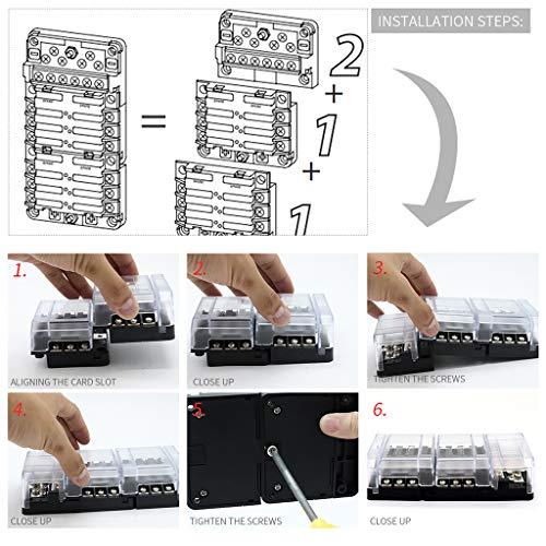 Preisvergleich Produktbild Unbekannt Homyl 12-Circuit-Sicherungsblock + 6-Fach-Sicherungsblock-Schraubanschluss