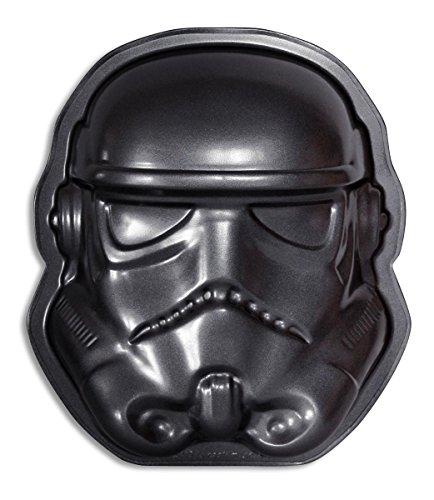 Star Wars Stormtrooper Backform/ Kuchenform, schwarz, aus teflonbeschichtetem Carbonstahl.